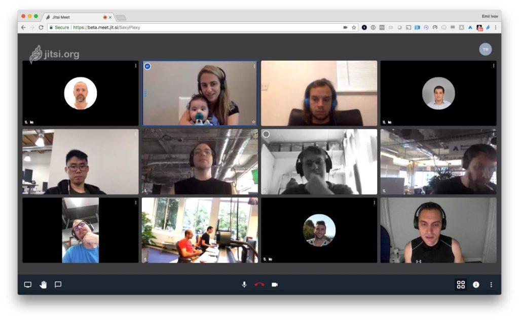 Sodelovanje v videokonferenci (Jitsi)